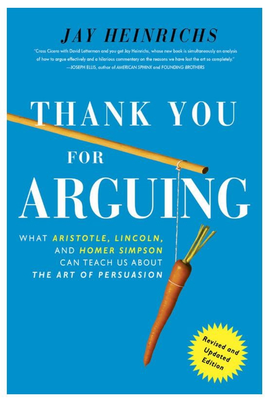buchtitel 'Thank you for arguing'